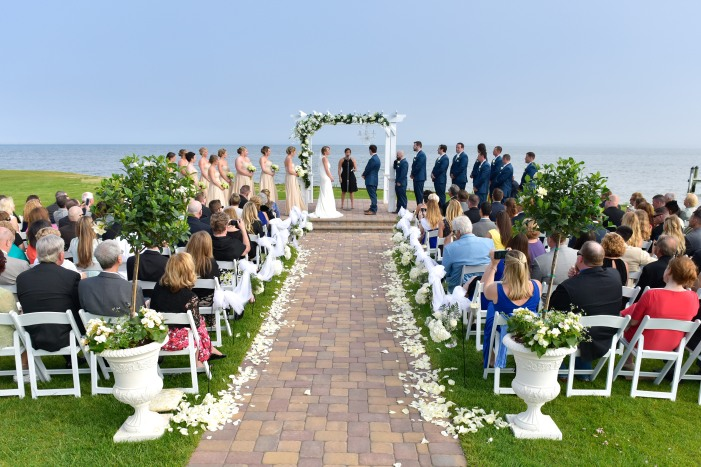 at the alter, Rehoboth Beach wedding