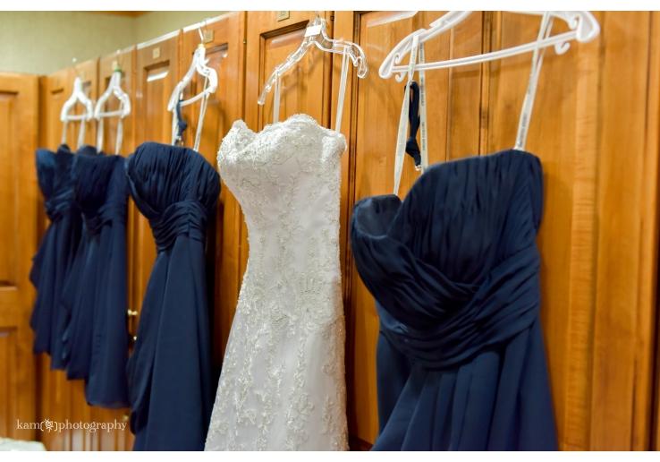 Baywood Greens wedding 2 bridesmaids dresses navy