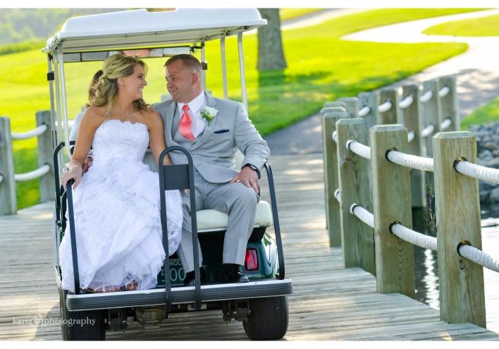 Baywood Greens wedding golf cart