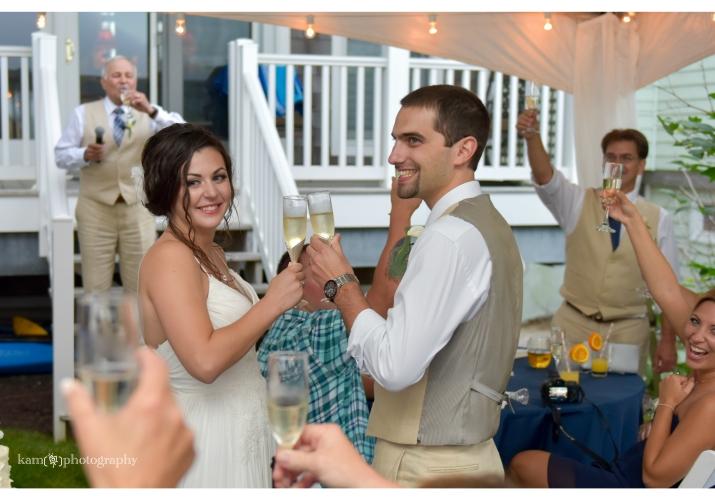 newlyweds toast