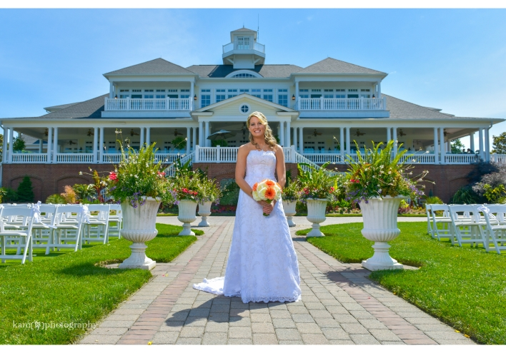 The bride Baywood Greens wedding