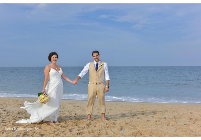 wedding couple Bethany Beach Delaware