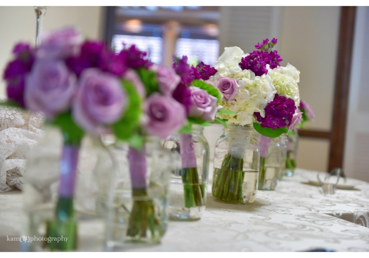 purple wedding flower arrangements