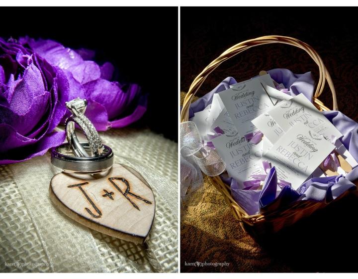 wedding purple details