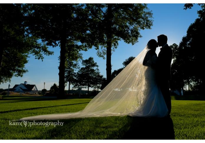 Baywood Greens wedding sunset