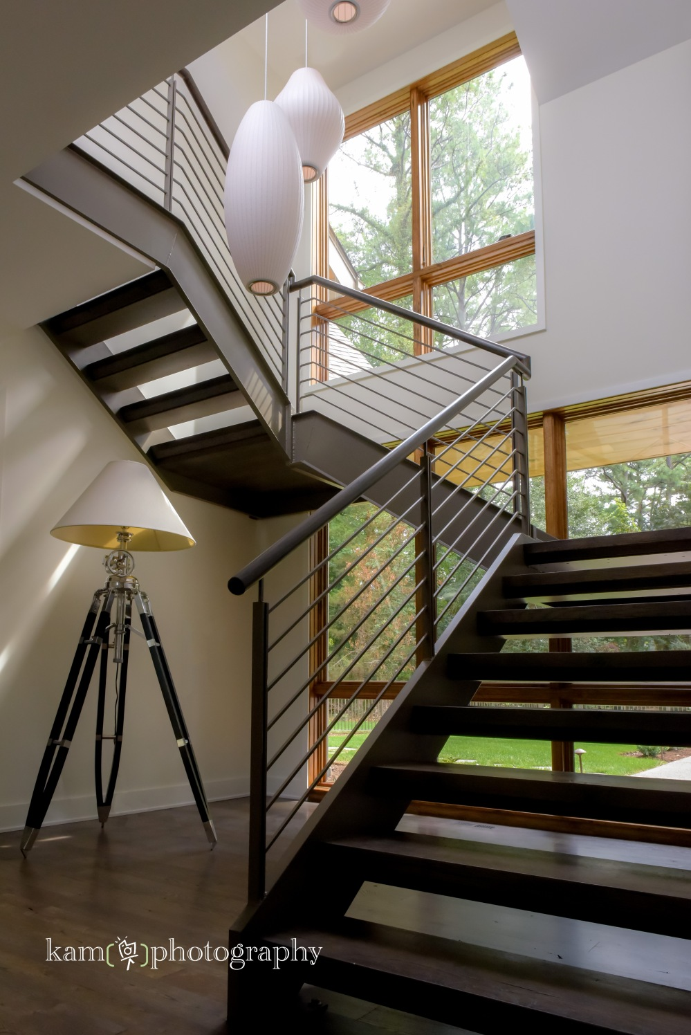 Burton Builders custom home in Delaware, staircase