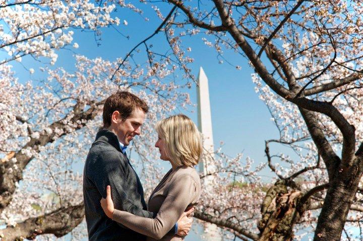 engagement shoot in Washington DC