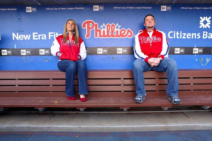 Phillies stadium engagement shoot