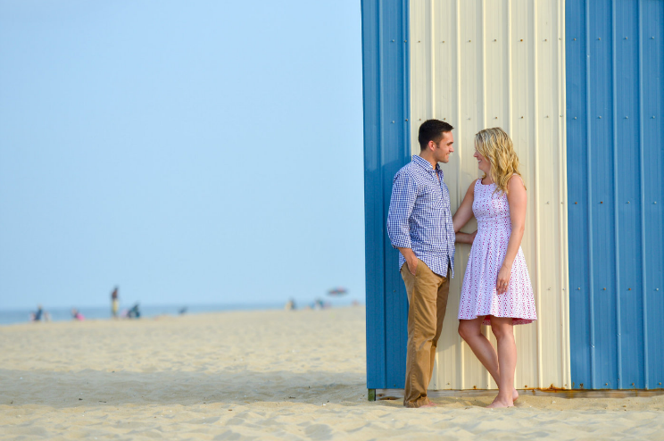 Delaware beach engagement session